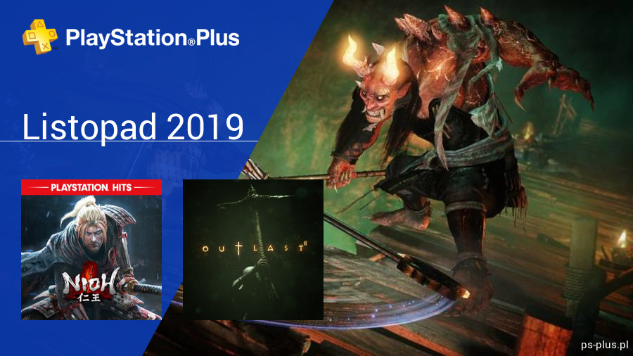 Listopad 2019 - darmowe gry w PlayStation Plus