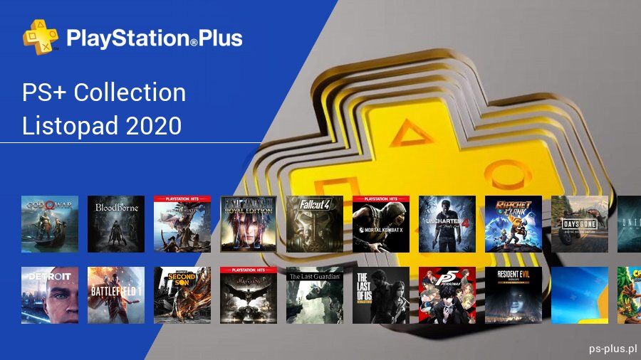 Listopad 2020 - darmowe gry na PS5 w PS+ Collection